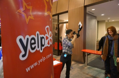 Yelp using dwinQ technology facebook & RFID